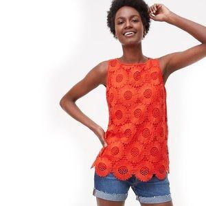✨LOFT Sunflower Crochet Tank sz L